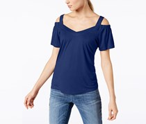 INC Women's Cold Shoulder Pullover Top, Bright Blue