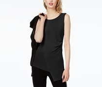 Women's Ruched Envelope Top, Black