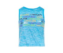 Graphic-Print Crop Tank, Carolina Sky