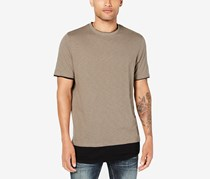 INC International Concepts Mens Layered-Look T-Shirt, Taupe Tone