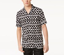 International Concepts Mens Geometric Shirt, Black Combo