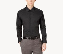 Men's Regular Fit Diamond Print Dress Shirt, Black