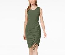 Bar III Ruched Bodycon Dress, Dusty Olive