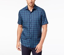 Men's Bossini Plaid Shirt, Teal Combo