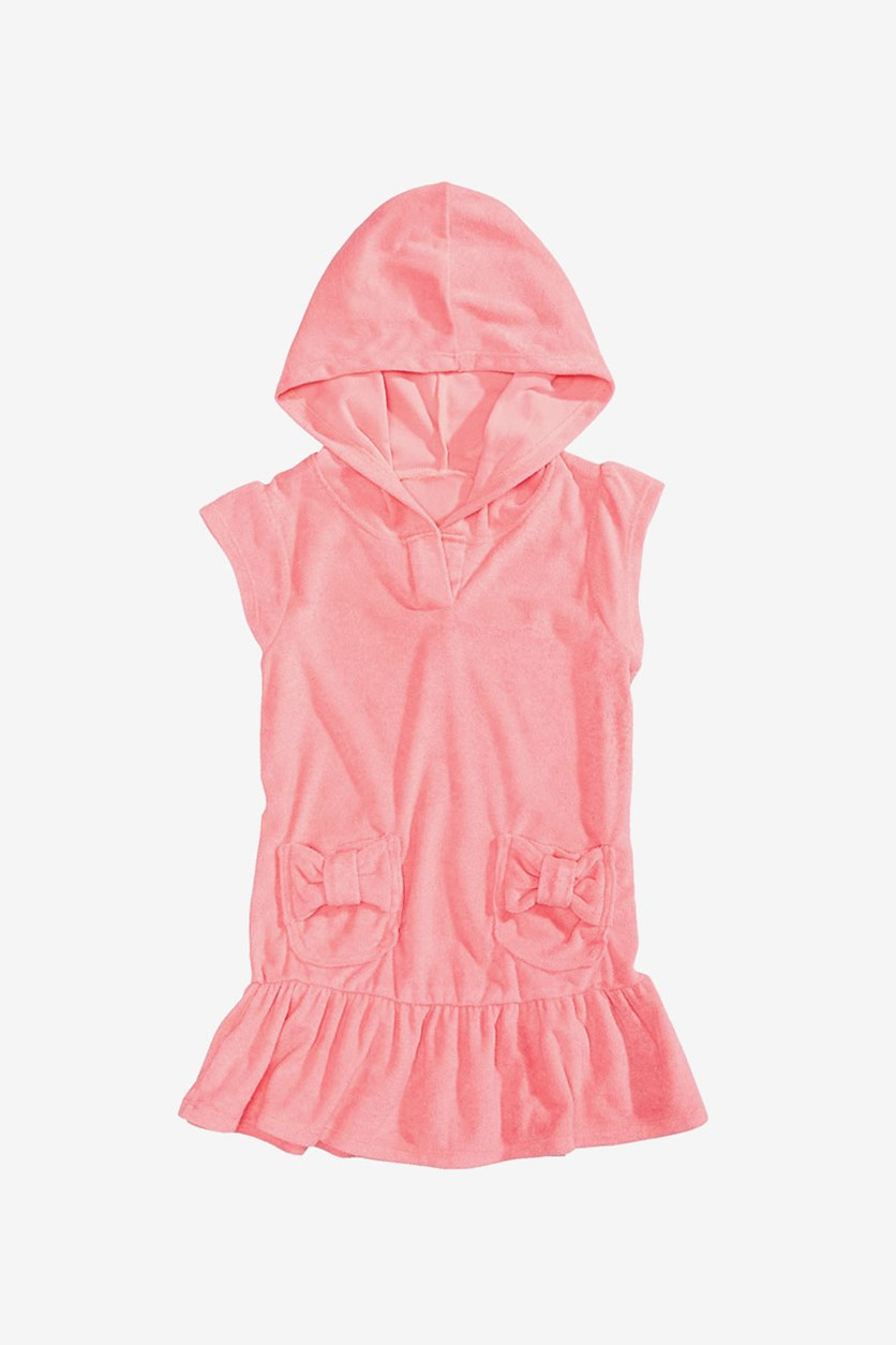 Hooded Bows Cover-Up, Pink