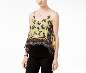 Bcx Juniors' Layered-Look Camisole Top, Yellow