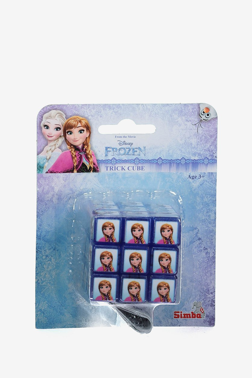 Frozen Ice Queen Trick Cube Puzzle, Blue