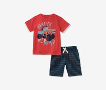 Kids Headquarters Baby Boys 2-Pc. Graphic-Print T-Shirt & Shorts Set, Red/Navy Combo
