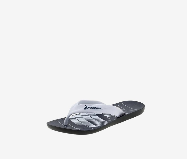 Strike Graphics Ad Slipper, Black/White/Blue