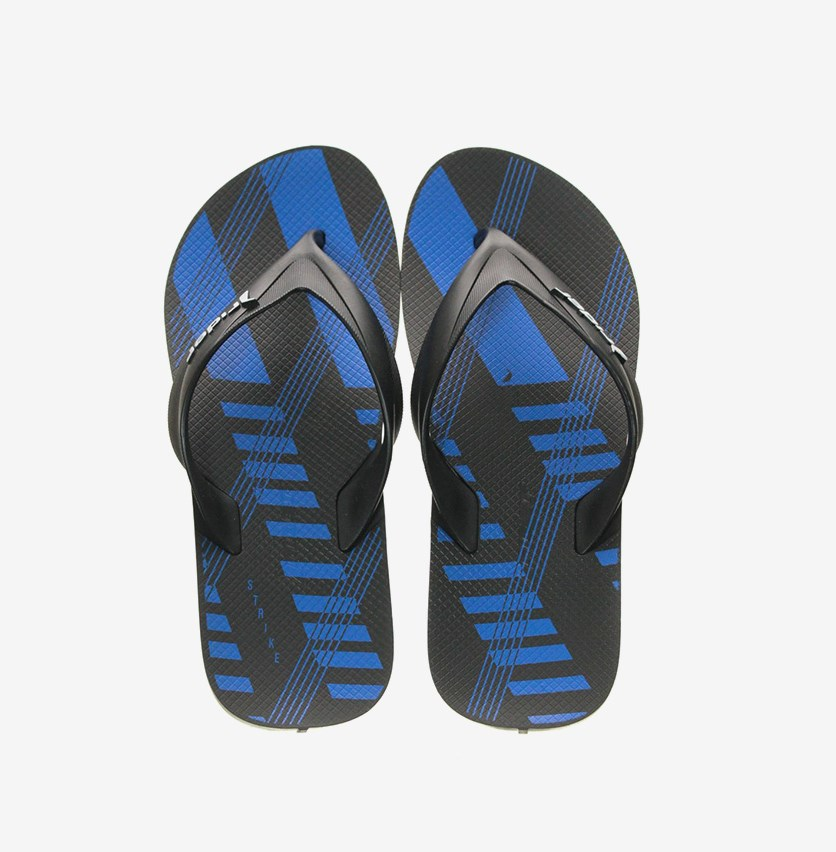 Strike Graphics Ad Slipper, Black/Blue