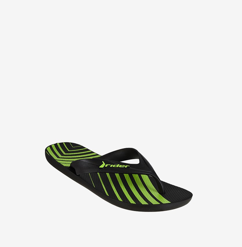 Strike Graphics Ad Slipper, Black/Green