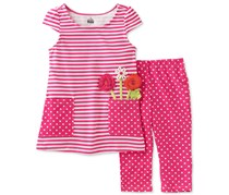 Kids Headquarters Girl's set 2-Pc. Striped, Pink