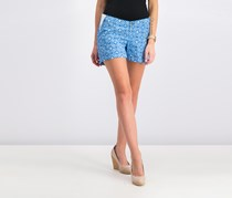GAP Women's Printed Shorts, Blue
