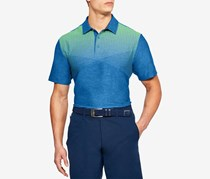 Men's Playoff Performance Striped Golf Polo, Blue