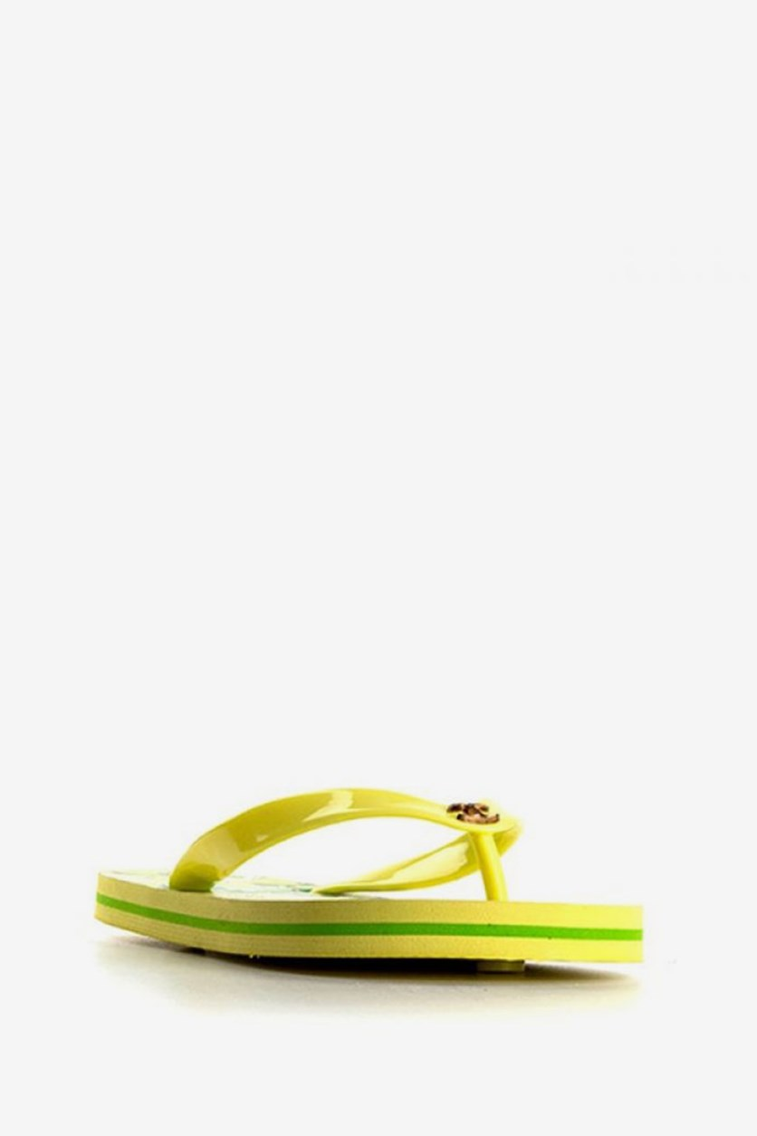 Men's Printed Beachwear Slipper, Lime