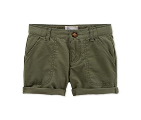 Carter's Girl's Chino Shorts Girls, Olive