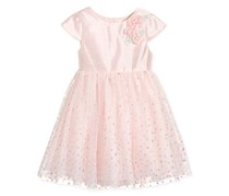 Marmellata Girl's Glitter-Dot Dress, Pink
