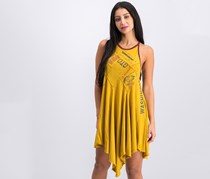Free People Batter Up Asymmetrical Mini Dress, Yellow Combo