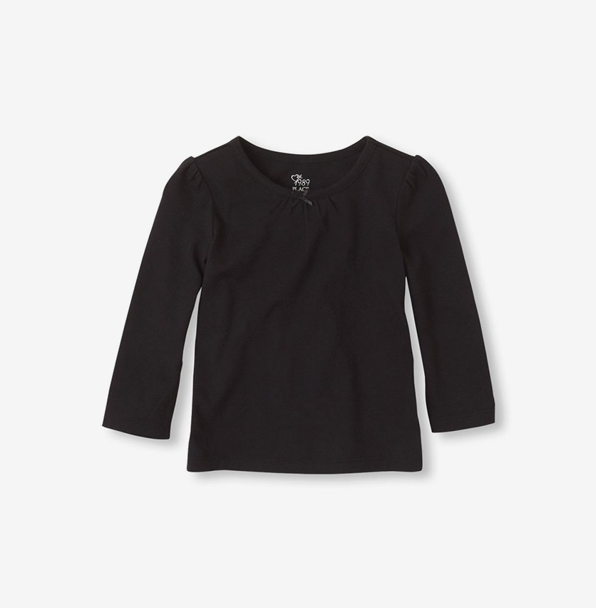 Toddler Long Sleeve Layering Tee, Black