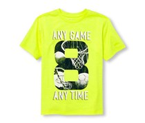 The Children's Place Boy's T-shirt, Lime-green