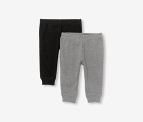 The Children's Place 2-Pack Baby Boys Solid Knit Pants, Hound