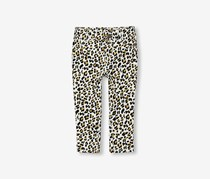 Toddler Girls Leopard Print Pants, Gold/Black