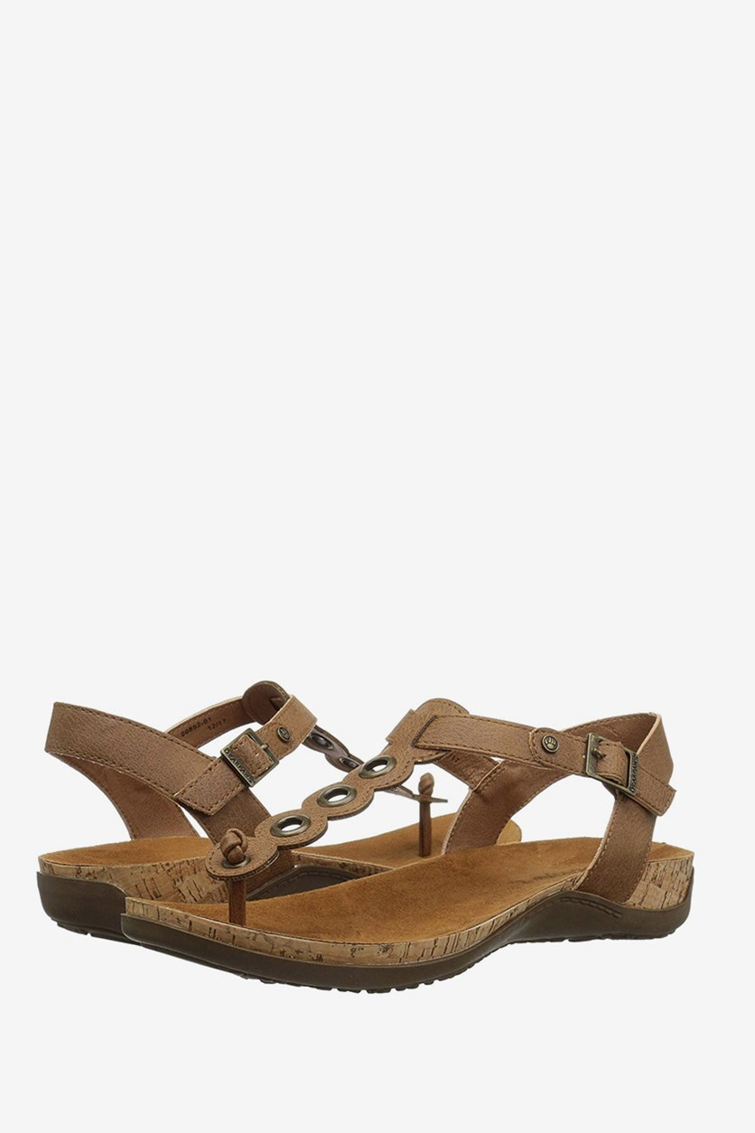 Womens Jean T-Strap Sandals, Hickory