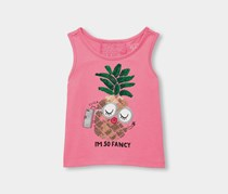 The Children's Toddler Girl Place Sequins Tank Top, Jazzberry