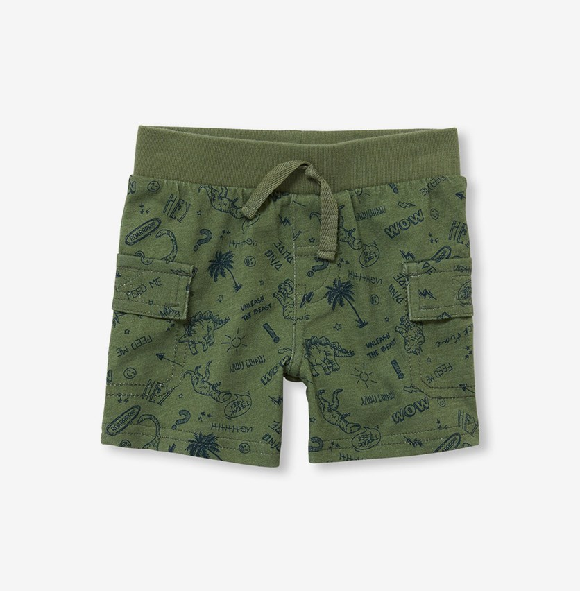 Printed Shorts, Garden Cress