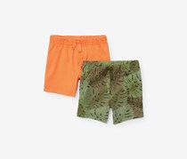 Toddlers Pull On Short, Sun Glow/Olive