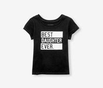 The Children's Place Toddlers Girls Graphic Tee, Black