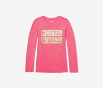 Girls Diva Squad Matching Graphic Tee, Neobry/Pink