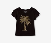 The Children's Place Graphic Tops, Black/Gold