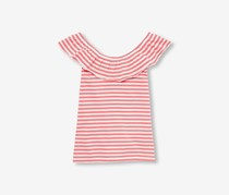The Children's Place Girls Striped Ruffl Top, Gumball