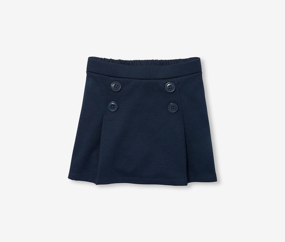 The Children's Place Girls Front Button Pleated Skirt, Tidal