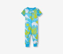 Little Boy Allover Print Bodysuit, True Blue