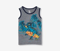 The Children's Place Toddler Boys Dino Surfer Graphic Tank Top, Heather Hound
