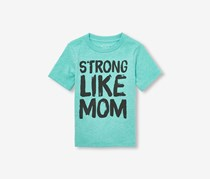 The Children's Place Toddler Boys 'Strong Like Mom' Graphic Tee, Treasure Teal