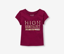 The Children's Place Toddlers Girls Graphic Tee, Dark Tamale