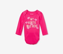 Baby Girl Long Sleeve Graphic Print Bodysuit, Hibiscus Kiss