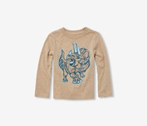 Baby and Toddler Boys Long Sleeve Graphic Tee, Sierra Tan