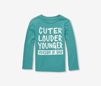 The Children's Place Toddlers Longsleeve Graphic Shirt, Brittany Blue