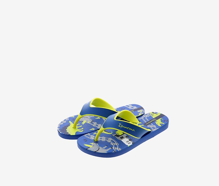 Kid's Boys Deck Inf Slipper, Blue/Yellow
