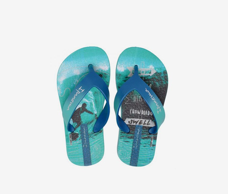Kid's Boys Deck Inf Slipper, Blue/Green