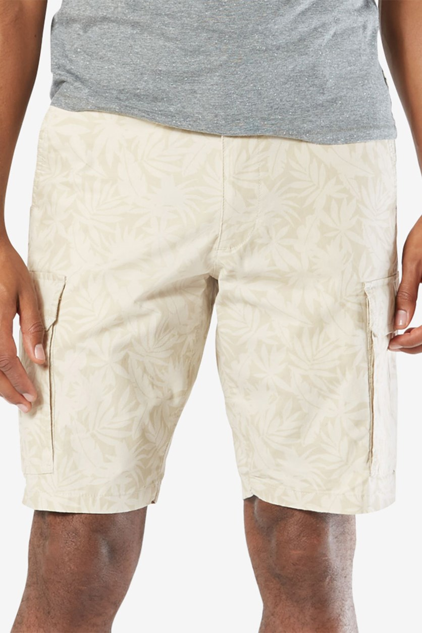 Men's Stretch Classic Fit Washed Cargo Shorts, Safari Beige