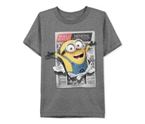 Despicable Me Little Boys' Minion Graphic-Print T-Shirt, Gray