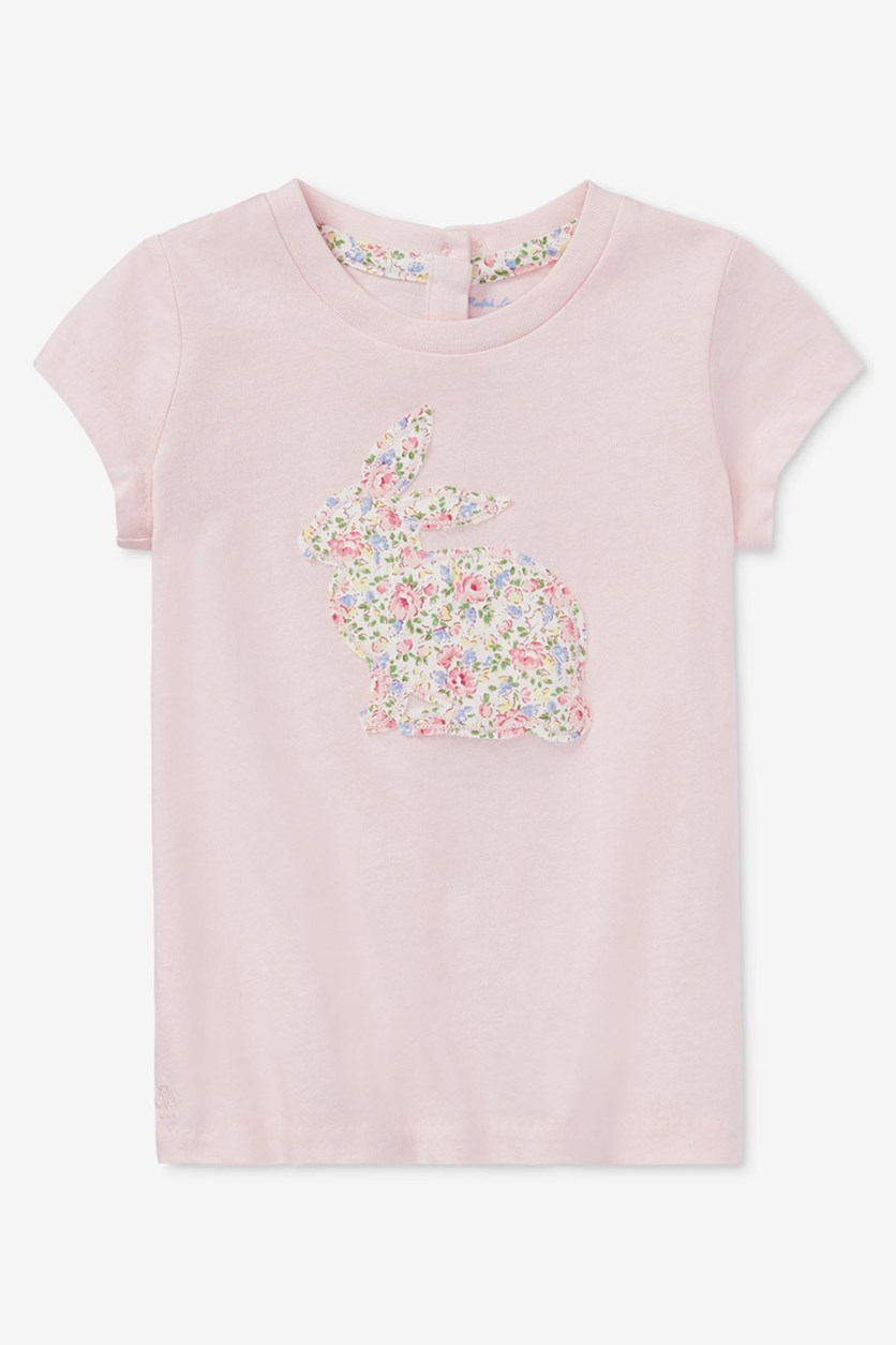 Floral-Print Cotton T-Shirt, Hint Of Pink
