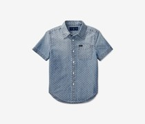 Ralph Lauren Toddler Boys Cotton Chambray Shirt, Blue Star