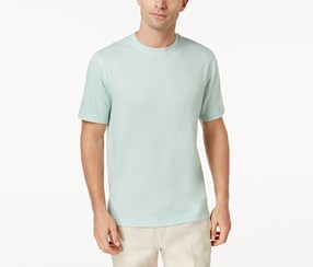 Tasso Elba Performance Crew Neck Shirt, Minnow