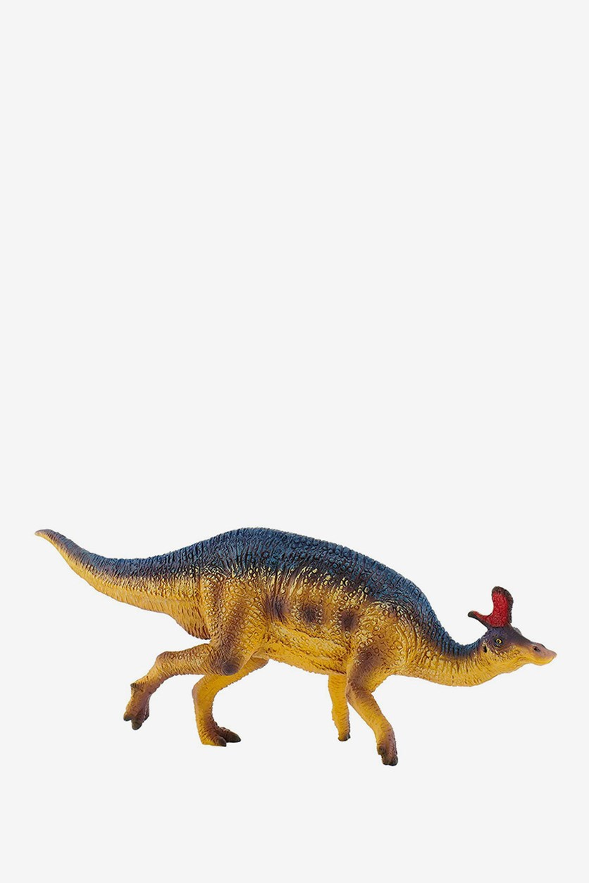 Lambeosaurus Dinosaur Toy Figure, Brown Combo